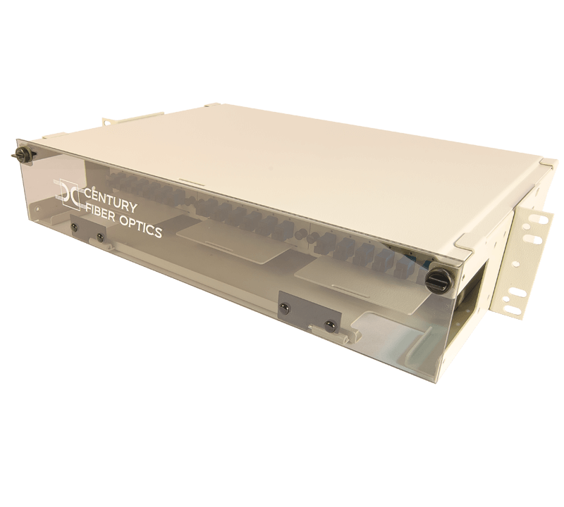 fiber optic interconnect rack mount from century fiber opticenclsoure