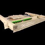 fiber optic 1u splice and term rack mount