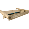 Fiber optic 1U rack mount enclosure by century fiber optic FTS-175 TM Termination