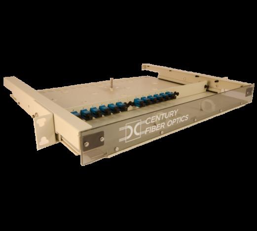 Fiber optic 1U rack mount enclosure by century fiber optic FTS-175 TM Termination