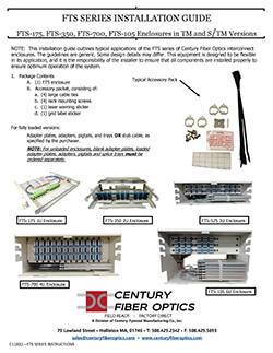 Century Fiber Optics Rack Mount Installation Guide